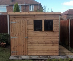 8'x8' Pent Shed